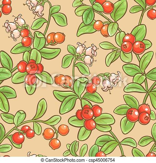 cranberry seamless pattern - csp45006754
