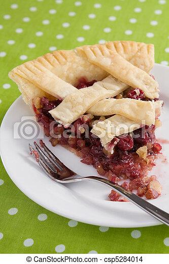 Cranberry Walnut Pie Slice - csp5284014
