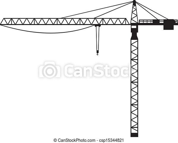 Crane (building crane, tower crane) - csp15344821