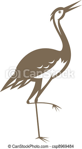 crane-heron-looking-forward - csp8969484