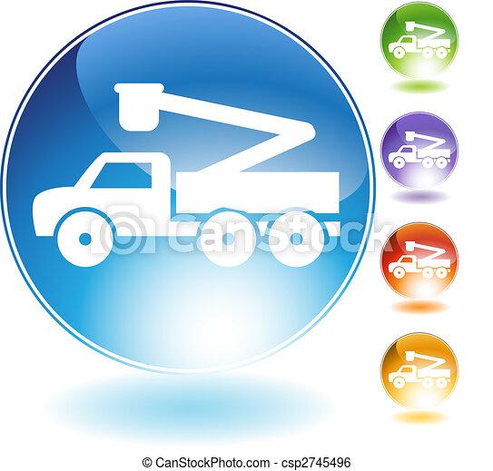 Crane Lift Truck Crystal Icon - csp2745496