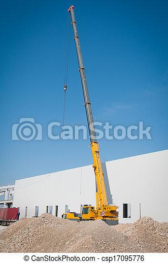 Crane works on construction - csp17095776