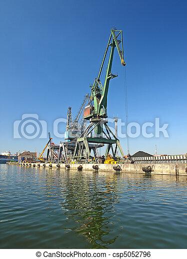Cranes in harbour - csp5052796