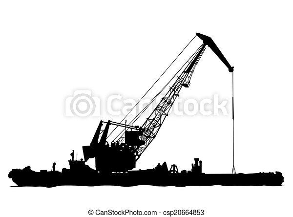 Cranes in port - csp20664853