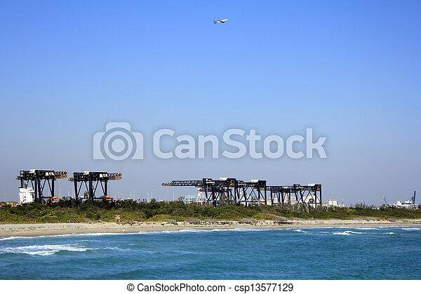 Cranes of Port Everglades - csp13577129