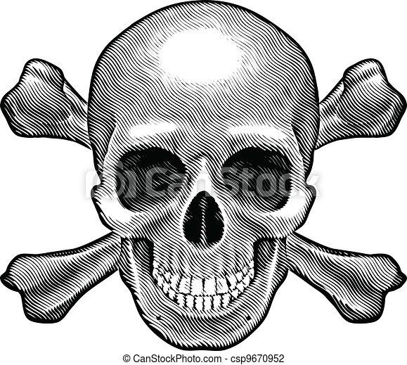 cranio, figura, crossbones - csp9670952