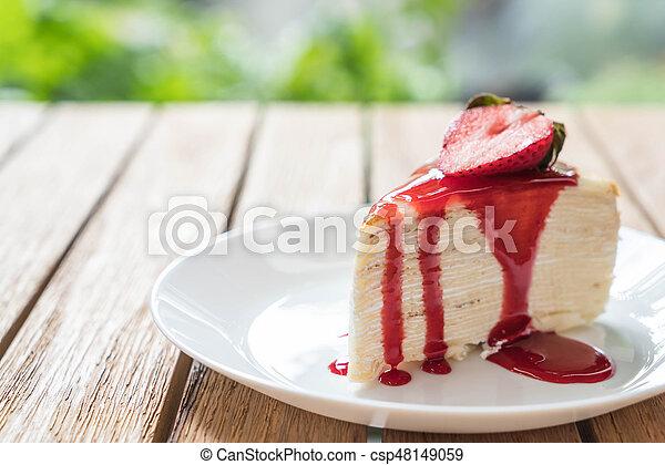 Crape Erdbeer Vanille Sosse Kuchen Crape Vanille Erdbeerkuchen