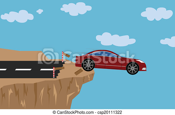 Crash car with man - csp20111322