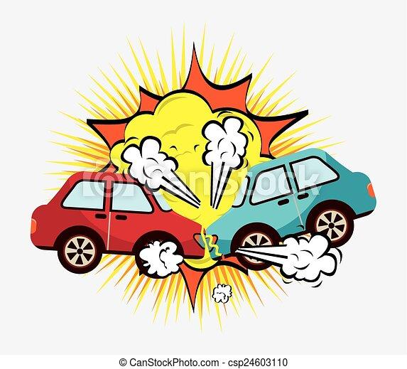 crash cars design vector illustration eps10 graphic rh canstockphoto ca cartoon car accident clipart
