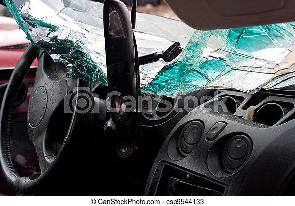 Crashed Automobile Interior - csp9544133