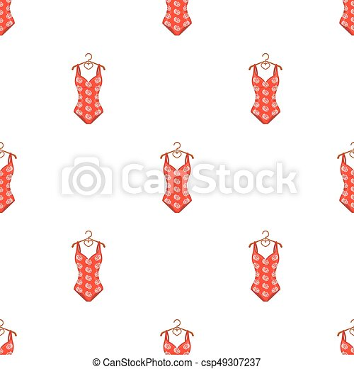 0ba185cfd24 Crashing Red Swimsuit With A Print Of Roses. Beach Wear.swimcuits Single  Icon In Cartoon Style