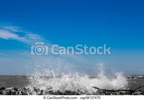 Crashing Wave - csp38137470