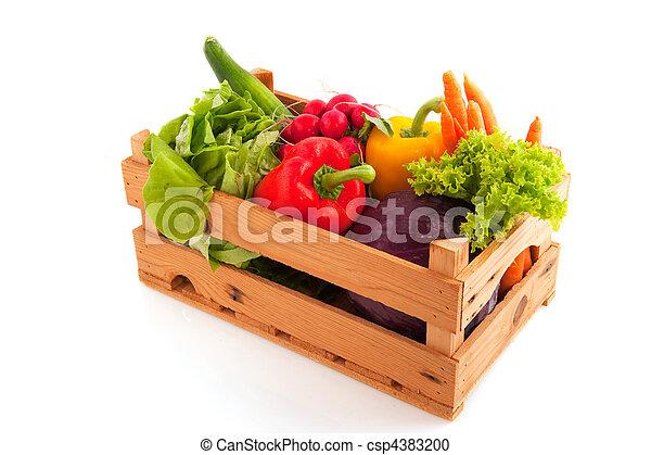 Crate vegetables - csp4383200