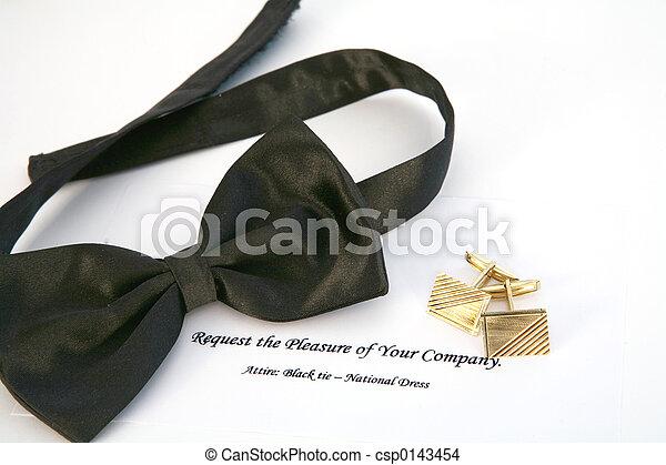 cravate, noir, événement - csp0143454