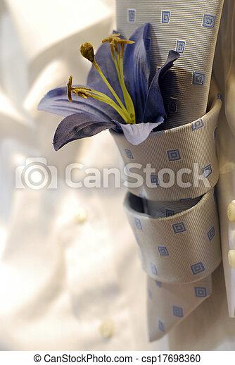 cravatta, fiore - csp17698360
