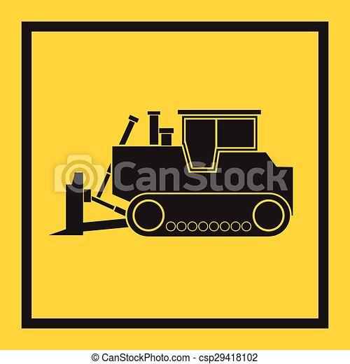 craw, trator, escavador, escavadora - csp29418102