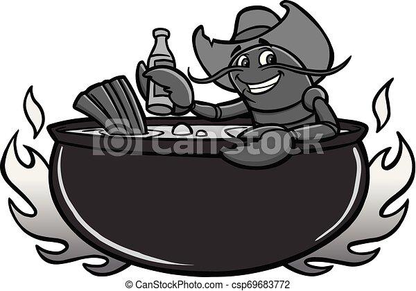 Crawfish Boil Illustration - csp69683772