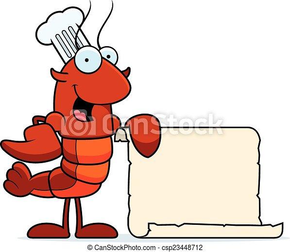 Crawfish Chef Recipe - csp23448712