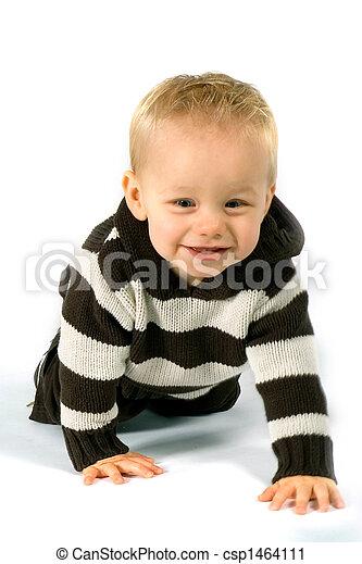 crawling baby boy - csp1464111