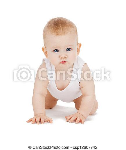 crawling baby boy - csp12607742