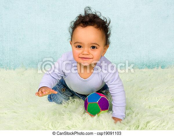 Crawling baby boy - csp19091103