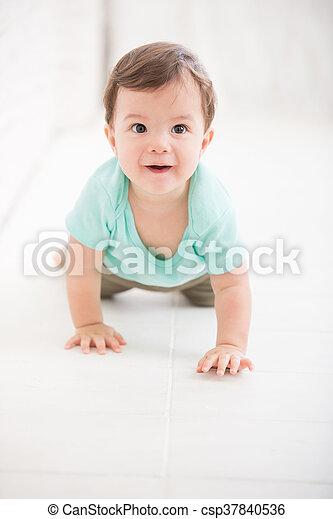 crawling baby boy - csp37840536