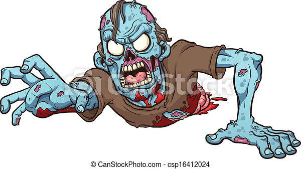 Crawling zombie - csp16412024