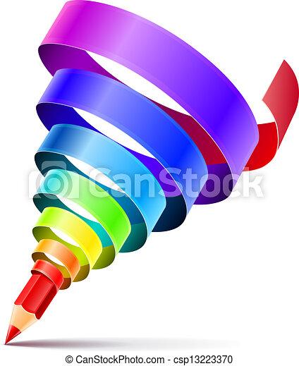 crayon, art, concept, conception, créatif - csp13223370