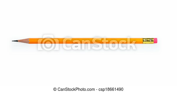 crayon, blanc, isolé - csp18661490