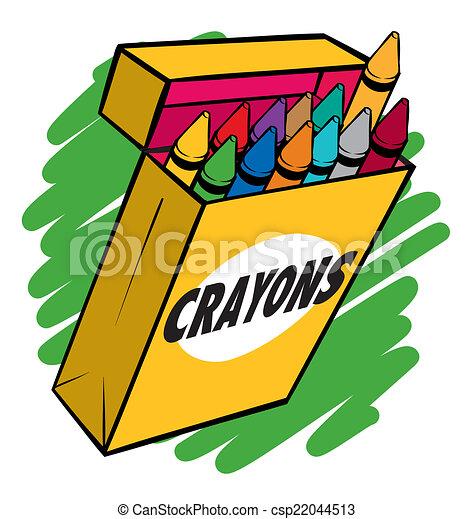 crayon box an illustration of a box of crayons normal vector rh canstockphoto com crayola crayon box clipart crayon box clipart free