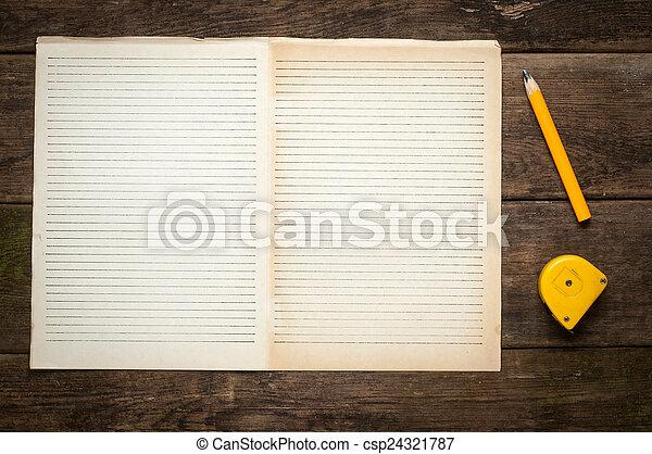 Connu Images de crayon, concept, livre, texte, vide, idée, page  IO73