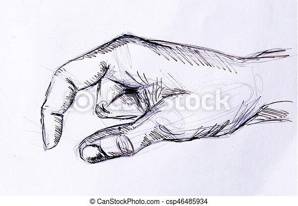 Crayon croquis vieux main paper dessin crayon - Main dessin crayon ...