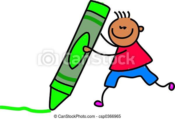 crayon kid - csp0366965