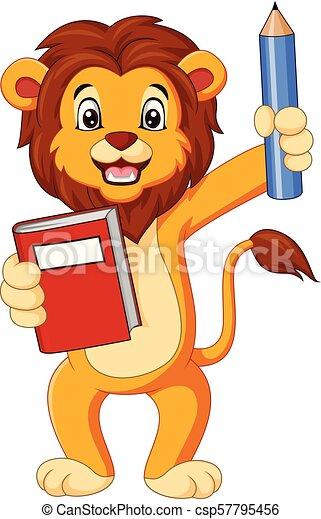 Crayon Lion Livre Dessin Anime Tenue