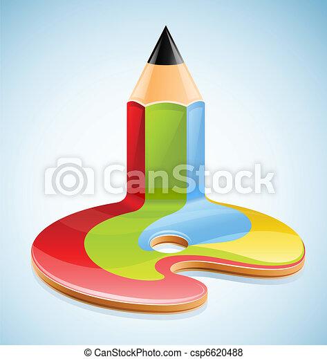 crayon, symbole, art, visuel - csp6620488