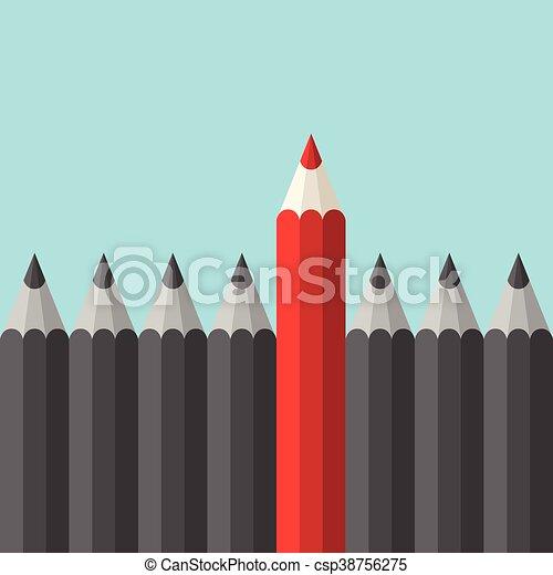 crayon, unique, rouges - csp38756275