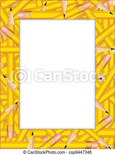 crayons, cadre - csp9447348