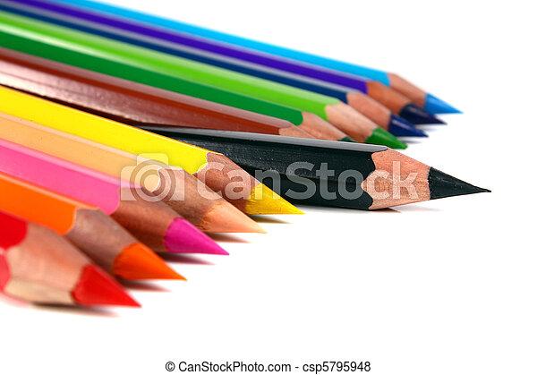 crayons coloured pencils - csp5795948