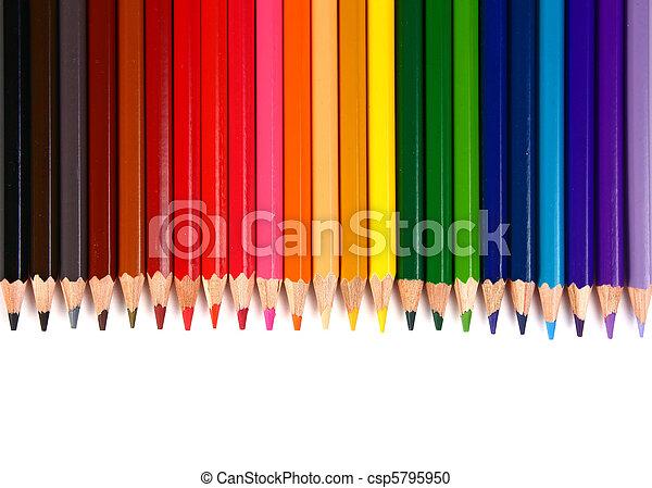 crayons coloured pencils - csp5795950