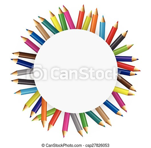crayons, couleur, collections - csp27826053