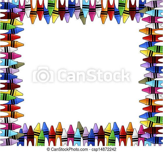 crayons frame - csp14872242