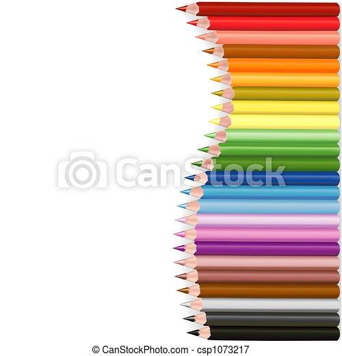 crayons, vague - csp1073217