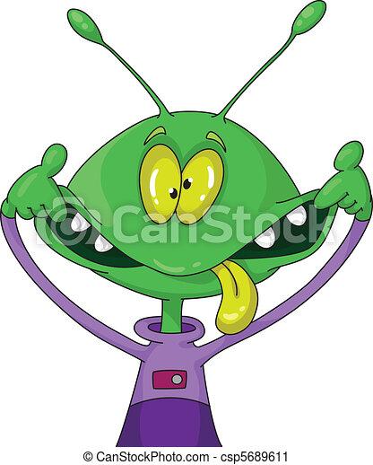 crazy alien - csp5689611