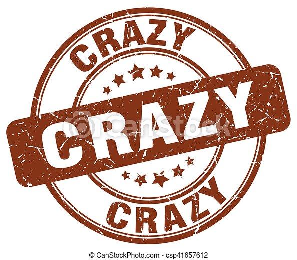crazy brown grunge stamp - csp41657612