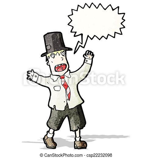 crazy cartoon tramp - csp22232098