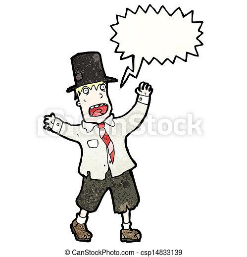 crazy cartoon tramp - csp14833139