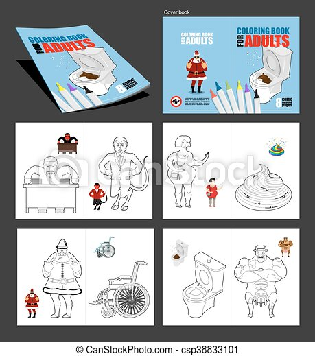 Crazy coloring book for adults. illustrations for coloring... vector ...