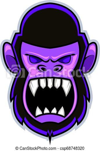 Gorilla sport mascot logo design vector Vector Clipart