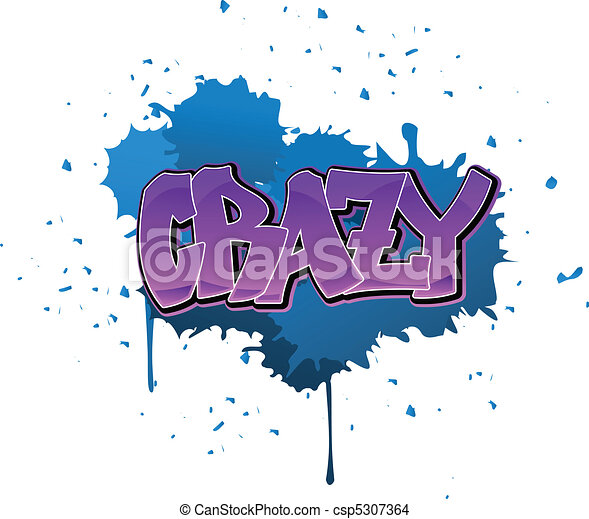 Crazy graffiti background - csp5307364