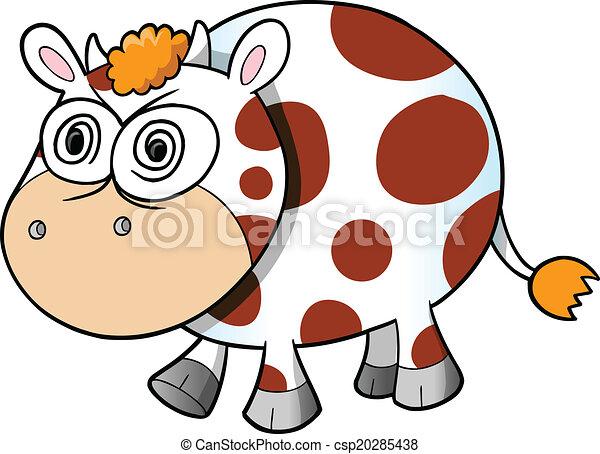 crazy insane cow vector art crazy insane cow vector vectors rh canstockphoto com cowboy vector art cow vector free download